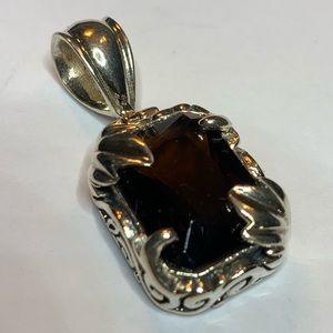 Sterling silver bars pendant